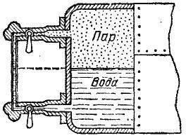 пример использования водоуказательной трубки в паровом котле